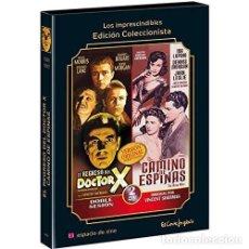 Cine: EL REGRESO DEL DOCTOR X + CAMINO DE ESPINAS 2 DVD THE RETURN OF DOCTOR X + THE HARD WAY CON LIBRETO . Lote 158078637