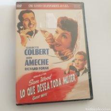 Cinema: (PR46) LO QUE DESEA TODA MUJER - DVD NUEVO PRECINTADO. Lote 189746830