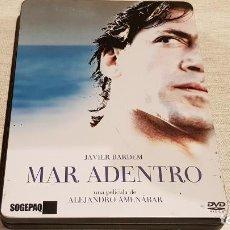 Cine: MAR ADENTRO / EDICIÓN DE COLECCIONISTA EN CAJA METÁLICA / 2 DISCOS / 1 DISCO LEVES SEÑALES.. Lote 189773756
