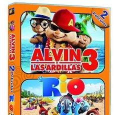 Cine: ALVIN Y LAS ARDILLAS 3 Y RIO. Lote 190006776