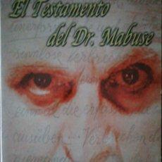Cine: EL TESTAMENTO DEL DR. MABUSE. EDICIÓN DE COLECCIONISTA.. Lote 190075215