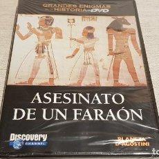 Cine: ASESINATO DE UN FARAÓN / GRANDES ENIGMAS DE LA HISTORIA / DVD - PRECINTADO.. Lote 190419402