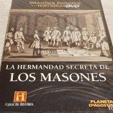 Cine: LA HERMANDAD SECRETA DE LOS MASONES / GRANDES ENIGMAS DE LA HISTORIA / DVD - PRECINTADO.. Lote 190421092