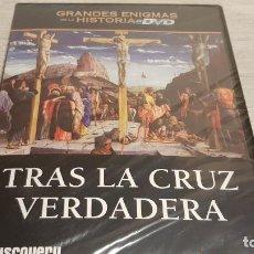 Cine: TRAS LA CRUZ VERDADERA / GRANDES ENIGMAS DE LA HISTORIA / DVD - PRECINTADO.. Lote 190422307