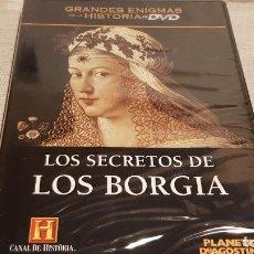 Cine: LOS SECRETOS DE LOS BORGIA / GRANDES ENIGMAS DE LA HISTORIA / DVD - PRECINTADO.. Lote 190422787