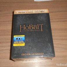 Cine: EL HOBBIT LA TRILOGIA CINEMATOGRAFICA EDICION EXTENDIDA 15 DVD NUEVA PRECINTADA. Lote 227193640