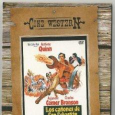 Cine: LOTE DE 2 PELICULAS DEL CINE WESTERN-AGACHATE MALDITO Y LOS CAÑONES DE SAN SEBASTIAN EDITA CAJASOL. Lote 190837188