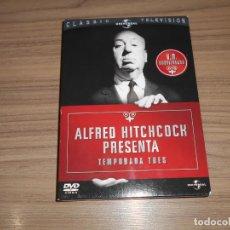 Cine: ALFRED HITCHCOCK TEMPORADA 3 COMPLETA 6 DVD 39 EPISODIOS UNIVERSAL COMO NUEVA . Lote 191167352
