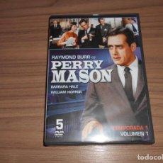 Cine: PERRY MASON TEMPORADA 1 VOLUMEN 1 5 DVD COMO NUEVA. Lote 191167652