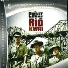 Cine: EL PUENTE SOBRE EL RÍO KWAI (DVD + LIBRO 36 PÁG.) DIRECTOR: DAVID LEAN ACTORES: WILLIAM HOLDEN. Lote 191208547