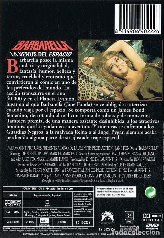 Cine: LA BABARELLA LA VENUS DEL ESPACIO JANE FONDA - Foto 2 - 191358598