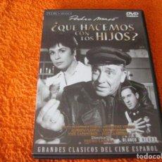 Cine: QUE HACEMOS CON LOS HIJOS / PACO MARTINEZ SORIA / RARISIMA EDICION DVD. Lote 191656168