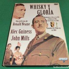 Cinema: DVD WHISKY Y GLORIA / ALEC GUINESS - JOHN MILLS[CARATULA ORIGINAL] (UN SOLO PASE)PERFECTO ESTADO!!!. Lote 191664378