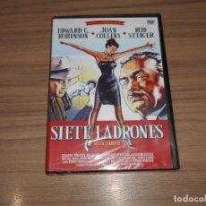 Cine: SIETE LADRONES DVD EDWARD G. ROBINSON JOAN COLLINS ROD STEIGER NUEVA PRECINTADA. Lote 191777886
