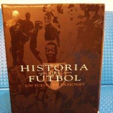 Cine: HISTORIA DEL FÚTBOL UN JUEGO DE PASIONES - DOCUMENTAL - PACK 6 DVD'S CON ESTUCHE RIGIDO DE CARTÓN. Lote 191869072