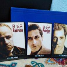 Cine: EL PADRINO TRILOGÍA CINE DVD COMPLETA ( 1,2 Y 3 PARTE ) EDITORIAL EL MUNDO ( REMASTERIZADAS ). Lote 191897052