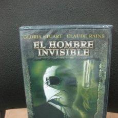 Cine: . EL HOMBRE INVISIBLE. GLORIA STUART - CLAUDE RAINS. DVD CON MATERIAL ADICIONAL. PRECINTADO.TERROR.. Lote 191955861