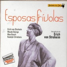 Cine: ESPOSAS FRÍVOLAS DVD (ERICH VON STROHEIM) -145 MINUTOS DE UN FILM CENSURADO EN SU ÉPOCA POR ATREVIDO. Lote 192013845
