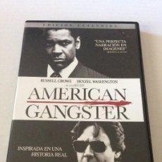 Cine: DVD AMERICAN GANGSTER EDICION EXTENDIDA DE RIDLEY SCOTT CON DENZEL WASHINGTON Y RUSSELL CROWE. Lote 192014601