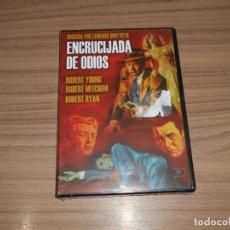 Cine: ENCRUCIJADA DE ODIOS DVD ROBERT RYAN ROBERT MITCHUM ROBERT YOUNG NUEVA PRECINTADA. Lote 288085303