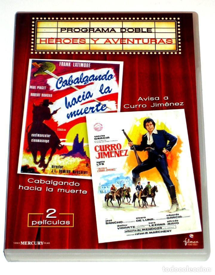AVISA A CURRO JIMENEZ / CABALGANDO HACIA LA MUERTE (2 DISCOS) - SANCHO GRACIA DVD DESCATALOGADAS (Cine - Películas - DVD)