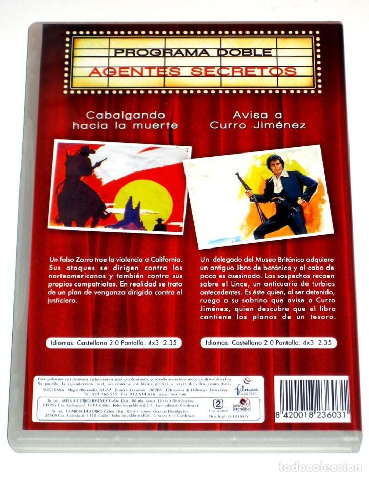 Cine: Avisa a Curro Jimenez / Cabalgando hacia la Muerte (2 Discos) - Sancho Gracia DVD DESCATALOGADAS - Foto 2 - 192293290