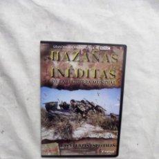 Cine: DVD - HAZAÑAS INEDITAS DE LA II GUERRA MUNDIAL - LAS FUERZAS ESPECIALES CREST FILMS ( CAJA FINA ). Lote 192381296
