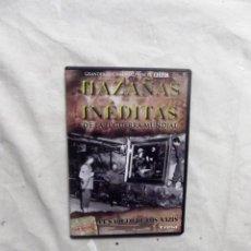 Cine: DVD - HAZAÑAS INEDITAS DE LA II GUERRA MUNDIAL - EL SAQUEO DE LOS NAZIS CREST FILMS ( CAJA FINA ). Lote 192381370