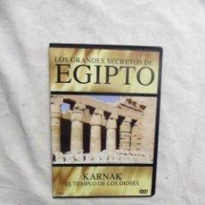 Cine: DVD - LOS GRANDES SECRETOS DE EGIPTO - KARNAK EL TEMPLO DE LOS DIOSES ( CAJA FINA ). Lote 192479500