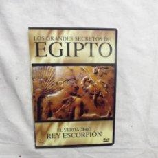 Cine: DVD - LOS GRANDES SECRETOS DE EGIPTO - EL VERDADERO REY ESCORPION ( CAJA FINA ). Lote 192479831