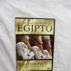Cine: DVD - LOS GRANDES SECRETOS DE EGIPTO - HATSHEPSUT LA GRAN REINA DE EGIPTO ( CAJA FINA ). Lote 192480265