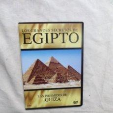 Cine: DVD - LOS GRANDES SECRETOS DE EGIPTO - LAS PIRAMIDES DE GUIZA ( CAJA FINA ). Lote 192480565