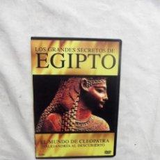 Cine: DVD - LOS GRANDES SECRETOS DE EGIPTO - EL MUNDO DE CLEOPATRA ALEJANDRIA AL DESCUBIERTO ( CAJA FINA ). Lote 192481291