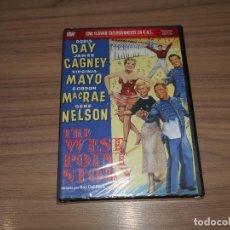 Cinema: THE WEST POINT STORY DVD DORIS DAY JAMES CAGNEY VIRGINIA MAYO NUEVA PRECINTADA. Lote 262690120