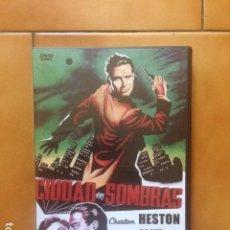Cinema: DVD CIUDAD EN SOMBRAS DE WILLIAM DIETERLE - CINE NEGRO - CHARLTON HESTON EN SUS INICIOS. Lote 192805998