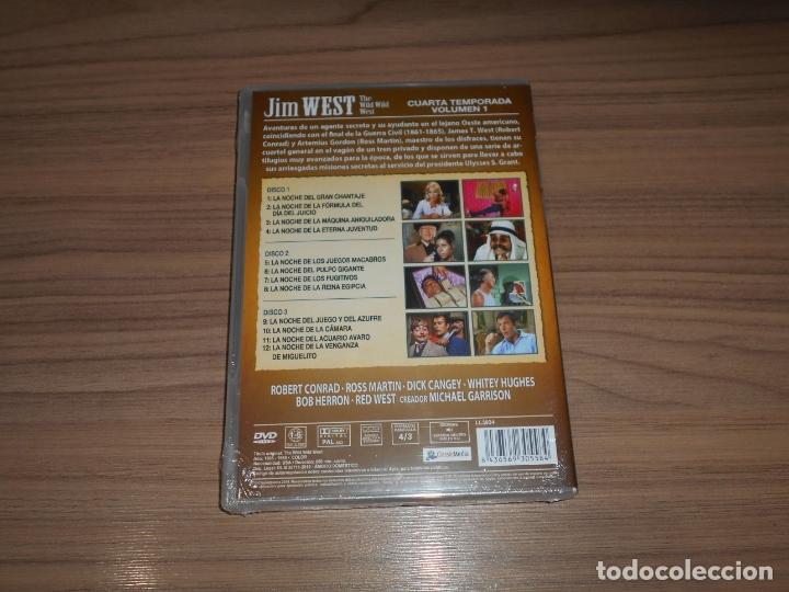 Cine: JIM WEST The WILD WEST Temporada 4 Volumen 1 3 DVD 600 Min. NUEVA PRECINTADA - Foto 2 - 279374218