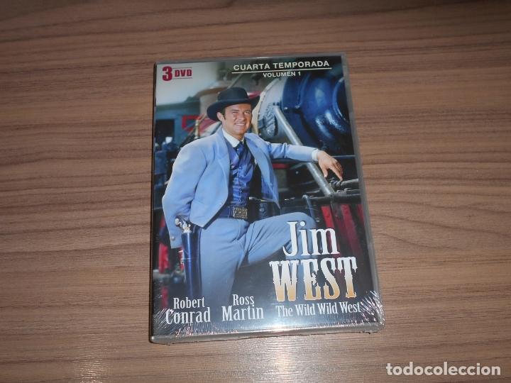 JIM WEST THE WILD WEST TEMPORADA 4 VOLUMEN 1 3 DVD 600 MIN. NUEVA PRECINTADA (Cine - Películas - DVD)