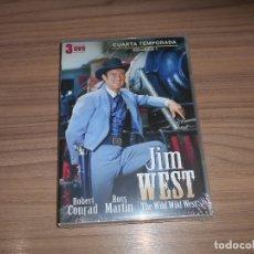 Cine: JIM WEST THE WILD WEST TEMPORADA 4 VOLUMEN 1 3 DVD 600 MIN. NUEVA PRECINTADA. Lote 279374218