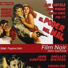 Cine: PACK EL PODER DEL MAL + YO AME A UN ASESINO -EDICION CON DOS DVD'S JOHN GARFIELD -CINE NEGRO. Lote 193250036