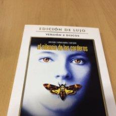 Cine: EL SILENCIO DE LOS CORDEROS. JODIE FOSTER. EDICIÓN LUJO. Lote 193386166