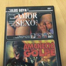 Cine: PORQUE LO LLAMAN AMOR CUANDO QUIEREN DECIR SEXO. AMANECIÓ DE GOLPE.. Lote 193395032