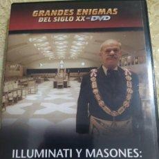 Cine: ILLUMINATI Y MASONES: EL PODER OCULTO - GRANDES ENIGMAS DEL SIGLO XX - PLANETA DE AGOSTINI - DVDILLU. Lote 193443935