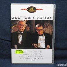 Cinema: DELITOS Y FALTAS - DVD. Lote 193901976