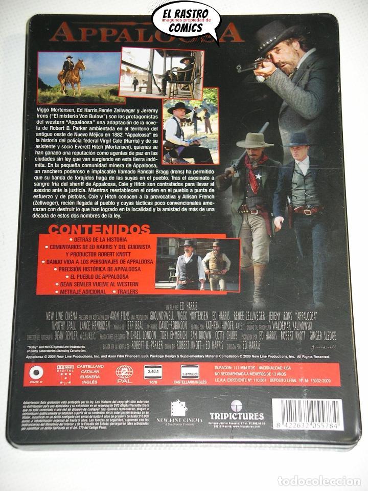 Cine: Appaloosa, edicion especial Caja metálica dos DVD, Ed Harris, Jeremy Irons, Mortensen, Zellweger, D1 - Foto 2 - 194011033
