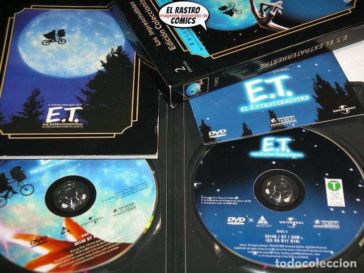 Cine: ET El extraterrestre, Edicion especial coleccionista extenso libreto y estuche, dos DVD, E T, D1 - Foto 2 - 194011995