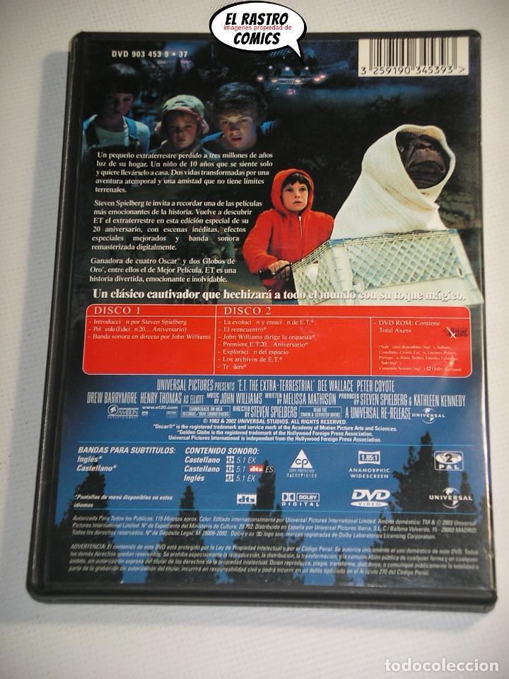 Cine: ET El extraterrestre, Edicion especial coleccionista extenso libreto y estuche, dos DVD, E T, D1 - Foto 4 - 194011995