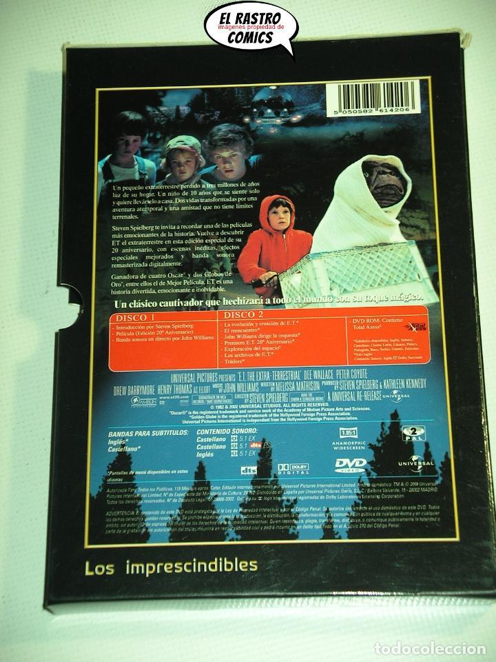 Cine: ET El extraterrestre, Edicion especial coleccionista extenso libreto y estuche, dos DVD, E T, D1 - Foto 5 - 194011995