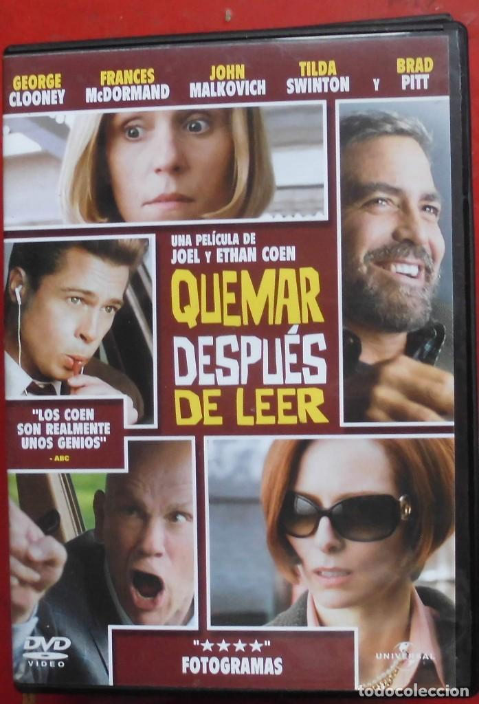 QUEMAR DESPUÉS DE LEER (Cine - Películas - DVD)