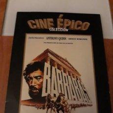 Cine: BARRABAS. COLECCION CINE EPICO. LA RAZON. Lote 194189640