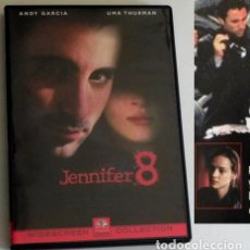 Cine: JENNIFER 8 / DVD PELÍCULA SUSPENSE ANDY GARCÍA - UMA THURMAN JOHN MALKOVICH ASESEINATO POLICÍA EEUU. Lote 194300531